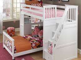 Cool Bedframes Bedroom Furniture Ne Kids Schoolhouse Stairway Loft Bed White
