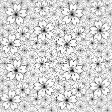 japanese pattern black and white seamless background image of black white japanese sakura flower