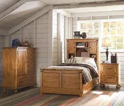 Trundle Bed With Bookcase Headboard Twin Bookcase Bed With Underbed Trundle Or Storage Drawer Unit By