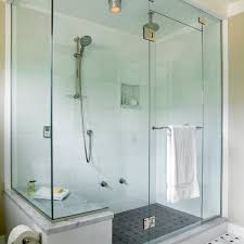 folding shower seat bathroom transitional with frameless shower
