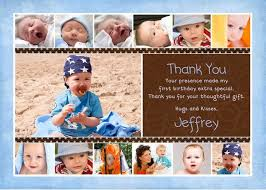 birthday collage photo thank you card year of photos