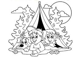Coloriage  Camping sous la tente  Day Care Ideas  Pinterest