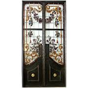Antique Stained Glass Door by Doors Stained Glass In Antiques