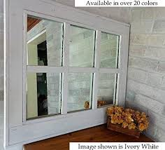 Reclaimed Wood Home Decor Amazon Com Renewed Décor 6 Pane Herringbone Reclaimed Wood Mirror