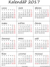 Kalendář 2018 Svátky Kalendář 2017 K Vytisknutí Pdf Soubory Pdf Zdarma Pro Tisk