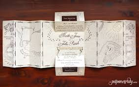 managed paper truly - Harry Potter Wedding Invitations