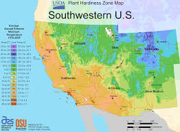 map us south south west us plant hardiness zone map mapsof net