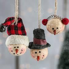 primitive paper clay snowman ornaments ornaments