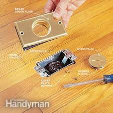 how to install a floor outlet family handyman