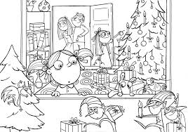 christmas scene coloring pages funny coloring