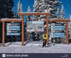 Colorado Springs Trail Map by Trail Map And Signs Top Of Sundown Chairlift Steamboat Ski