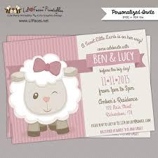 sheep baby shower baby shower invitation