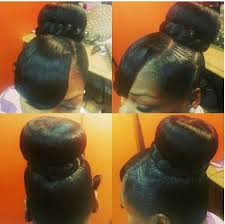 black hairstyles bun with bangs 33 best buns bangs ponytails updos images on pinterest