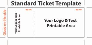 free editable standard ticket template example for concert with