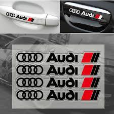 audi decals 1 set car door handle stickers wheels decals graphics vinyl emblem