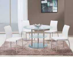 Frosted Glass Dining Room Table Gf 79dt 841dc White Round Set Jpg