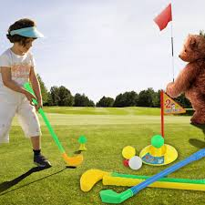 1 set multicolor plastic golf toys for children outdoor backyard