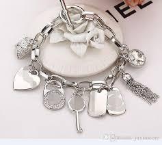sterling silver crystal heart bracelet images 2018 famous brand m k bracelets with love crystal heart gem 925 jpg