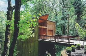 best tree houses this tree house for rent near downtown portland doubles as an art