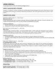 Teacher Resumes Examples Sample Resume For Teacher Doc Templates