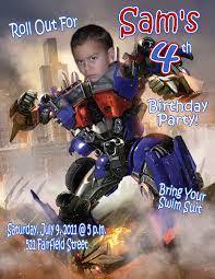 optimus prime birthday optimus prime personalized photo birthday invitation 1 09