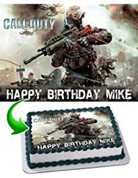 call of duty cake topper personalized edible call of duty cake topper call of
