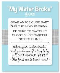my water baby shower easy baby shower with printable sheets baby shower
