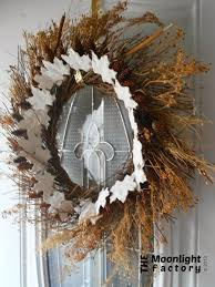the moonlight factory plaster of paris fall leaves nature wreath