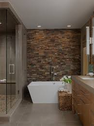 accent wall ideas bathroom contemporary with brown tile shower