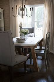 Neutral Dining Rooms 2017 Grasscloth Wallpaper Farmhouse Dining Room Table And Chairs Seeking Lavendar Lane