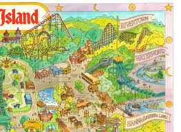 Adventure Island Orlando Map by Newsplusnotes Kings Island 1989 Souvenir Map