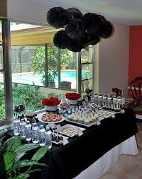 Black And Red Party Decorations 50th Birthday Party Themes