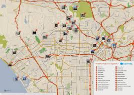 Los Angeles Crime Map by Map Of Things To Do In Los Angeles Indiana Map