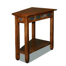 leick corner accent table leick home favorite finds rustic slate wedge accent table in rustic