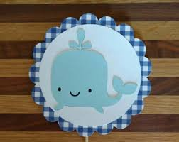 whale cake topper etsy