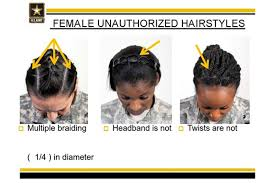 hairstyles for female army soldiers military rolls back restrictions on black hair styles time