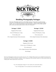 photography wedding packages pricing nick tracy photography