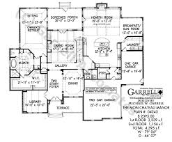 chateau floor plans mon chateau manor house plan house plans by garrell associates inc