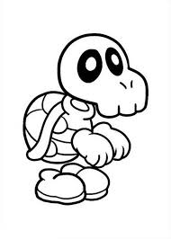 super mario brothers skull turtle coloring color luna