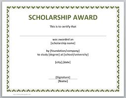 certificate samples in word
