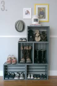 Easy Crate Leaning Shelf And by 10 Genius Diy Ways To Organize Your Shoes Wooden Crates Crates