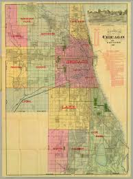 Chicago Maps by Blanchard U0027s Map Of Chicago And Environs David Rumsey Historical