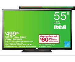 best black friday 50 inch 120 mh tv deals rca 55 inch 1080p 120hz led hdtv deal at kmart black friday is