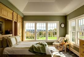 Blue Gray Paint For Bedroom - blue gray paint bedroom traditional with white trim wooden panel