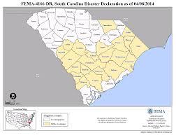 Map Of South Carolina Counties South Carolina Severe Winter Storm Dr 4166 Fema Gov