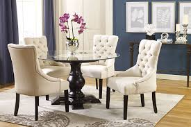 Printed Dining Chairs Lovely Ideas Linen Dining Room Chairs Pleasurable Design Script