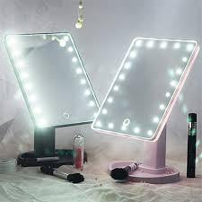 makeup mirror with led lights touch screen 16 led light mirror adjustable 360 degree rotation