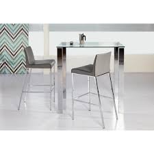 stainless steel bar table beth polished stainless steel bar table 38704 kit the home depot