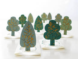 pop up tree forest a paper mini fairytale forest with gold speckled
