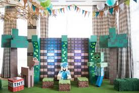 minecraft backdrop kara s party ideas jaime s minecraft birthday party kara s party